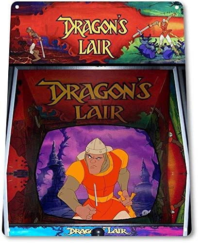 TFCD TIN Sign Dragon's Lair Arcade Shop