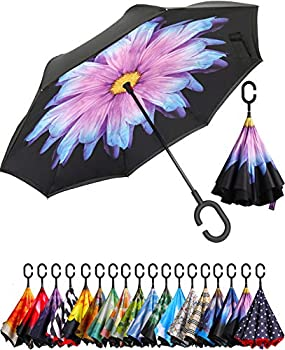 Bagail Double Layer Inverted Reverse Folding Umbrella