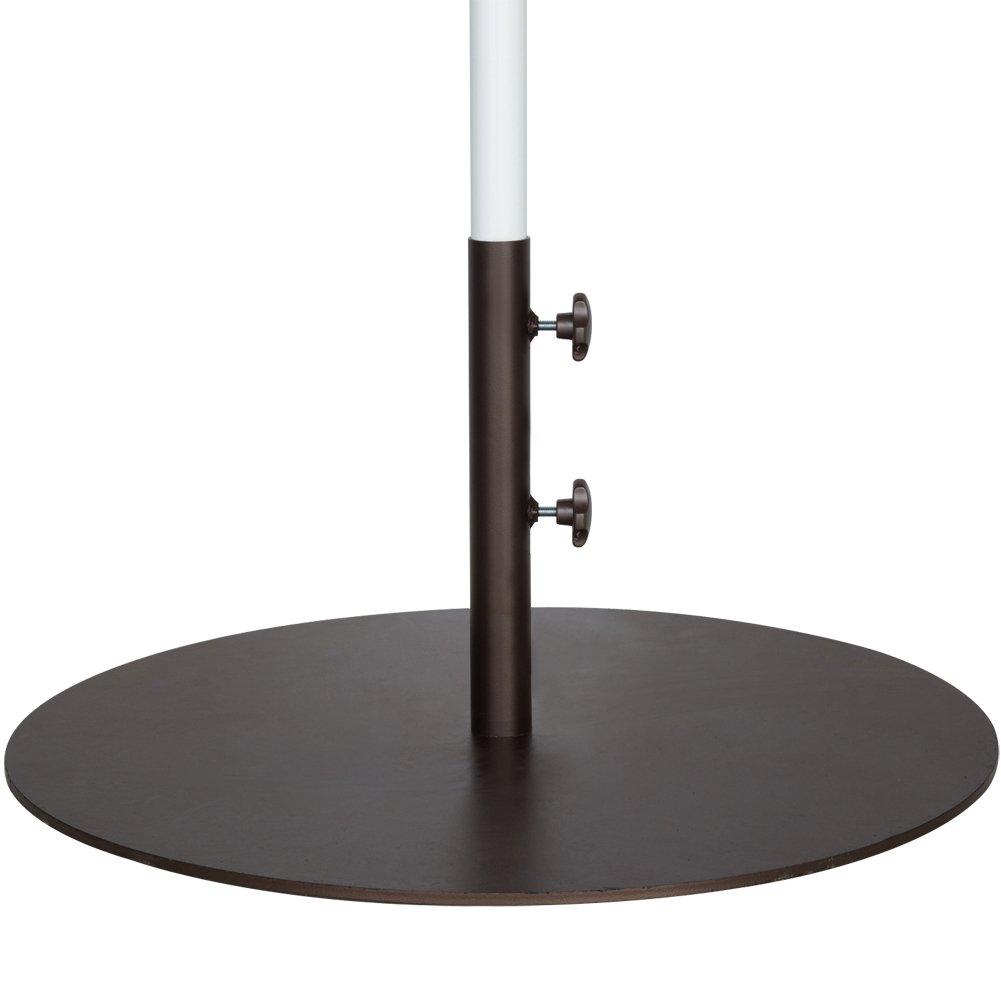 55 Lbs Round Steel Market Patio Umbrella Base Stand Weights 27 4