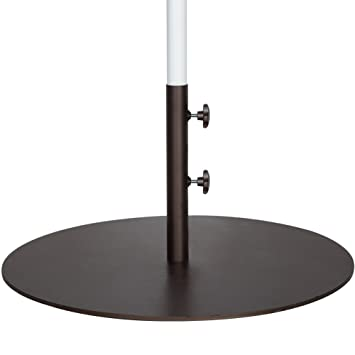Good Abba Patio 55 Lbs Round Steel Market Patio Umbrella Base 27.4 Inch Diameter Umbrella  Stand Weights