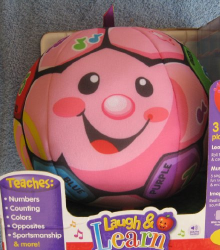 Exclusive - Fisher-Price Laugh & Learn Singin' Soccer Ball - Pink