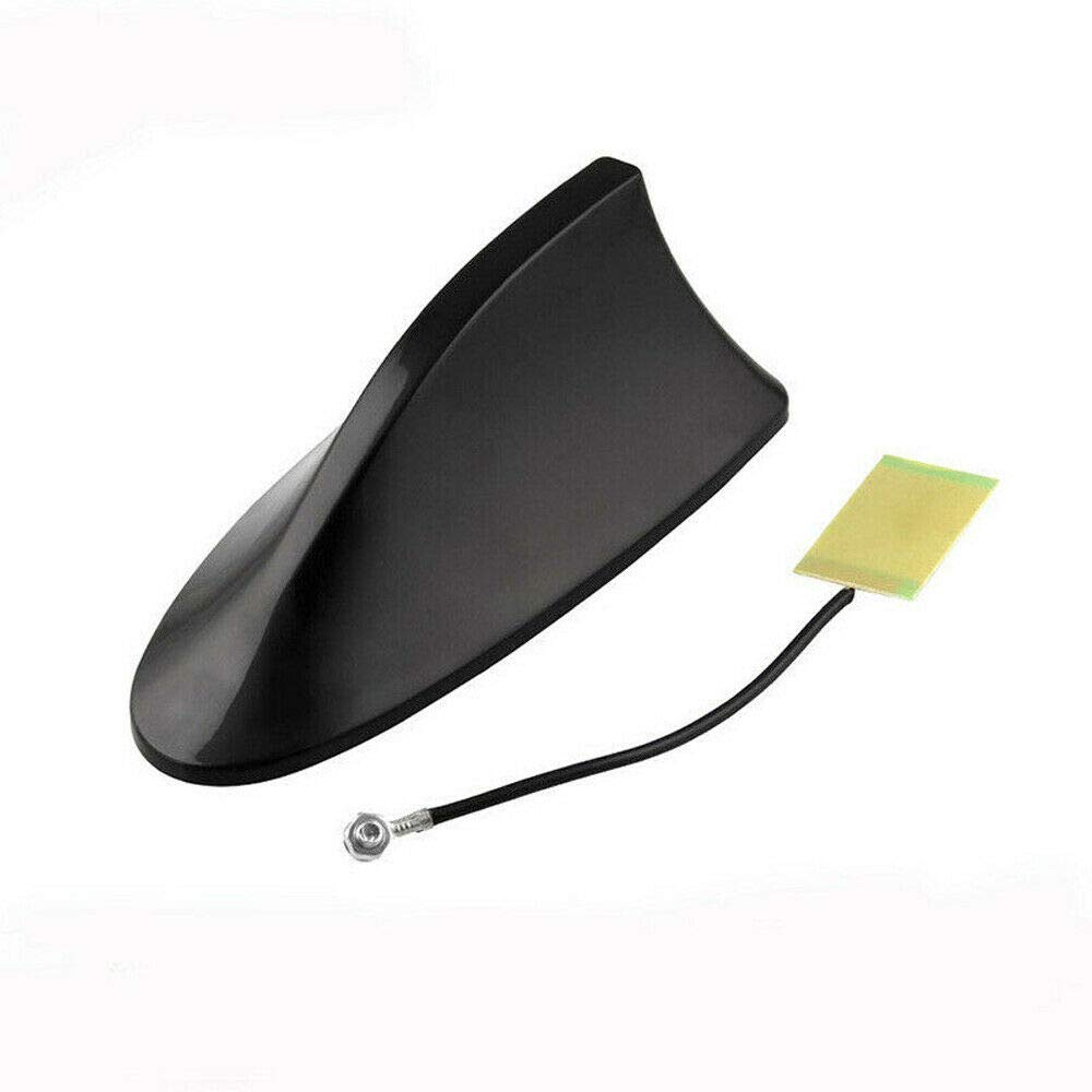 Auto Car ABS Shark Fin Universal Roof Antenna Radio FM//AM Decorate Aerial Black