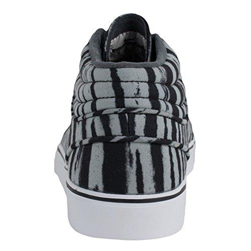 Nike SB Stefan Janoski Mid Premium (Zebra Pack) - Base gris / negro-blanco, 9.5 D US