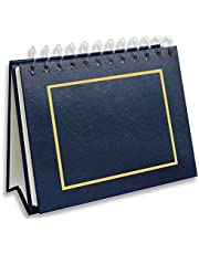 Pioneer Photo Albums EA-50/NB 50 Pocket Spiral Bound Leatherette Mini Photo Album Easel for 4 by 6-Inch Prints, Navy Blue