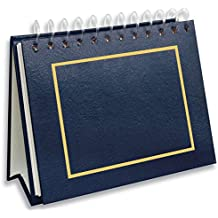 Pioneer Photo Albums 50 Pocket Spiral Bound Leatherette Mini Photo Album Easel for 4 by 6-Inch Prints, Navy Blue