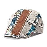 GTI Men Cotton Washed Beret Hat Buckle Adjustable Paper Boy Newsboy Cabbie Golf Gentleman Cap (Grey)