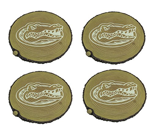Zeckos Florida Gators Set of 4 Glow in The Dark Tree Stump Stepping Stones