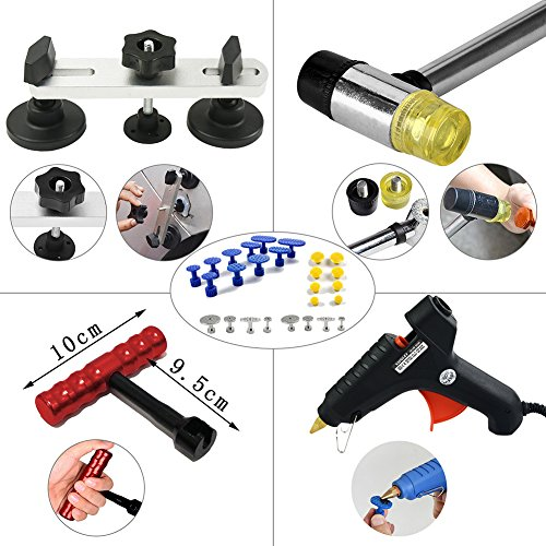 Furuix PDR Tools Paintless Dent Repair Tools Auto Dent Puller Kit PDR Kit with PDR Rods Dent Lifter Glue Pulling Tabs Line Board Auto Dent Remover Door Ding Repair Kit by Furuix (Image #5)