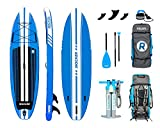 iROCKER ALL-AROUND Inflatable Stand Up Paddle Board 3.04m Long 81cm Wide 15cm Thick SUP Package | Blue 2019