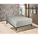 Spring Sleep Twin Size Assembled Orthopedic Mattress & 4 Box Spring with Bed Frame Splendor Collection
