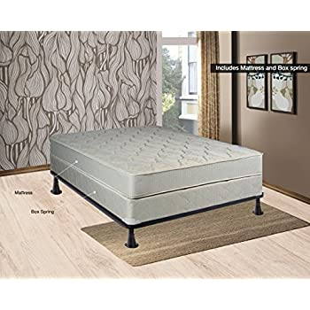 continental sleep hollywood collection orthopedic fully assembled mattress and box spring set ample support for your back premium 357 coil innerspring
