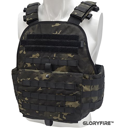 (GLORYFIRE Tactical Vest Rapid Assault Chest Rig Molle Law Enforcement Vest 1000D Cordura UTX Duraflex Buckle Gloryfire USA Design High End Series)