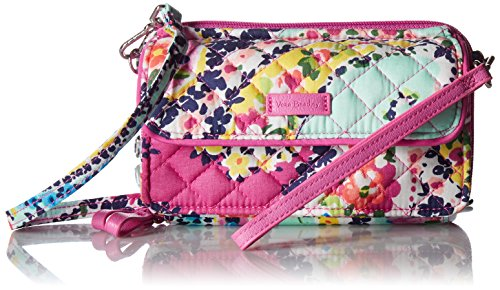 Checkbook Cover Paisley - Vera Bradley Iconic RFID All in One Crossbody, Signature Cotton, Wildflower Paisley, Wildflower Paisley, One Size
