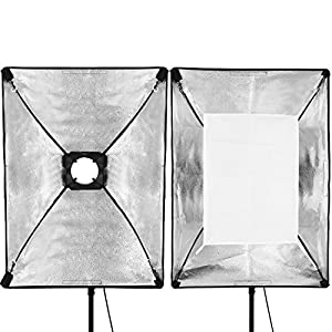 Neewer 3 Pieces 20x28 inches/50x70 centimeters Square Photography Light Tent Photo Cube Softbox with Carrying Case for Neewer Godox 300DI 250DI 300SDI 250SDI 180w Studio Light