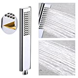 cool shower heads EMBATHER Brass handheld shower head high pressure single function luxury hand shwoerhead,polished chrome (only shower head )