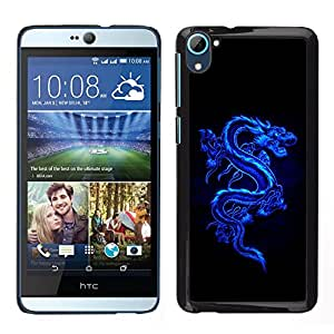 Impact Case Cover with Art Pattern Designs FOR HTC Desire D826 Blue Tribal Dragon Betty shop