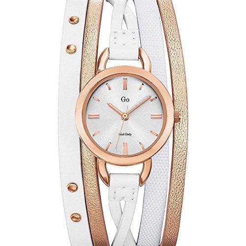 Go girl only 698577 - Reloj de Pulsera Mujer, Piel, Color Blanco: Amazon.es: Relojes