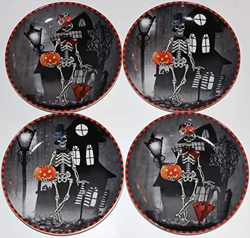 222 Fifth Halloween Dapper Skeleton Round 7-7/8