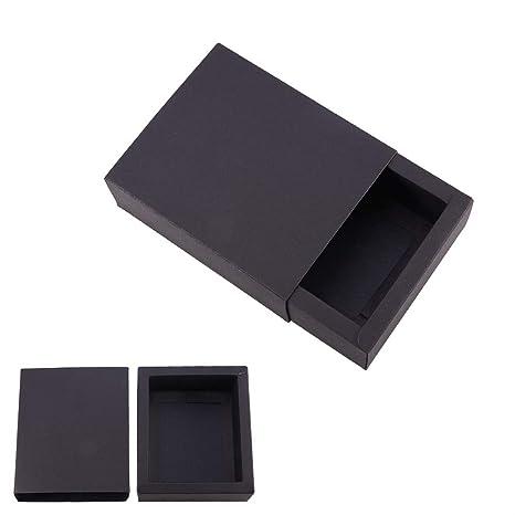 BENECREAT 20 Pack Caja de Cartón Kraft Cajas de Regalo para Fiesta Superior Envase de Joyería - Negro 12.8x10.8x4.2cm