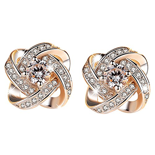 buyanputra Fashion Jewelry Women Ear Stud Cubic Zirconia Rhinestone Earrings
