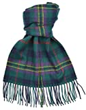Lambswool Scottish Kennedy Modern Tartan Clan Scarf Gift