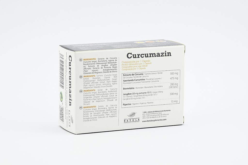 Betula Curcumazin 30 Capsulas - 1 unidad: Amazon.es: Salud y cuidado ...