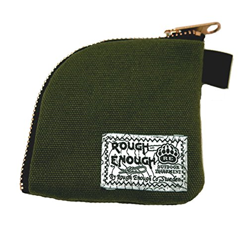Rough Enough Canvas Small Pouch Holder Coins Headphone (Army Green)