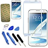 AE MOBILE ACCESSORIES Original Front Screen Outer Glass Lens for Samsung Galaxy Note II / N7100 (White)