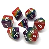 Polyhedral Dice Sets Rainbow Dice for Dungeons and Dragons DND RPG MTG Table Gaming Dice