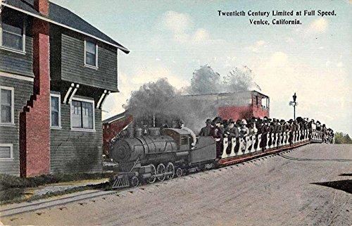 Venice California Twentieth Century Limited Mini Train Antique Postcard W48 ()