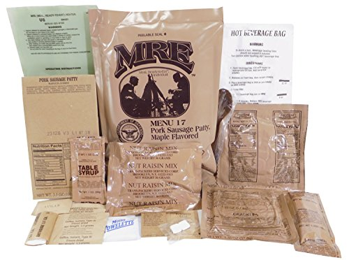 Maple Flavored Sausage Patty MRE Meal - Genuine US Military Surplus Inspection Date 2020 and Up