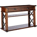 Progressive Furniture P527-05 Landmark Sofa/Console Table, 48 x 16 x 30, Vintage Ash