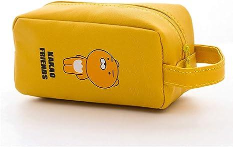 Estuche para lápices Kawaii de gran capacidad con dibujos animados para la escuela, estuche, estuche, estuche, papelería amarillo amarillo Talla:M: Amazon.es: Bebé