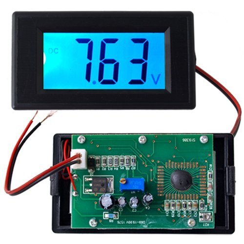 fitTek Blue LCD Digital Volt Panel Meter Voltmeter 7.5V-20V
