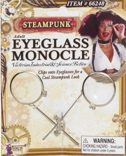 Steampunk Double Lens Clip On Eyeglass Monocle 66248