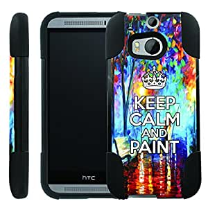 [ManiaGear] Rugged Armor-Stand Design Image Protect Case (keep Clam And Paint) for HTC One M8