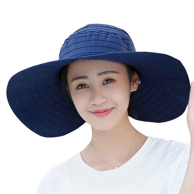 Fighting Estate Roll-up il cappello di Sun larga del bordo solido Panama  protezione della 876e5042b282