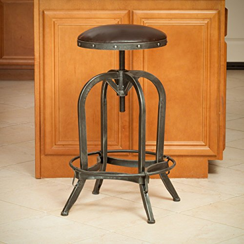 Christopher Knight Home 295043 Silla Barstool, Brown and Steel ()