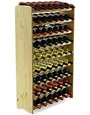 MODO24 Estantería de Botellas de Vino Armario Soporte botellero para 63Botellas de Vino Nuevo.