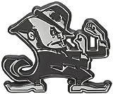 University of Notre Dame Leprechaun Chrome Metal Car Emblem