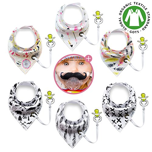 Drooling Teething Hypoallergenic Absorbent Mustache product image