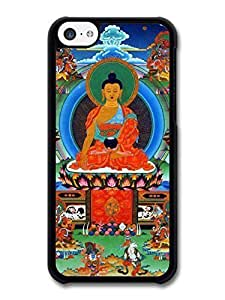 AMAF ? Accessories Buddha Siddhartha Gautama Praying Tibet Buddhism case for iPhone 5C