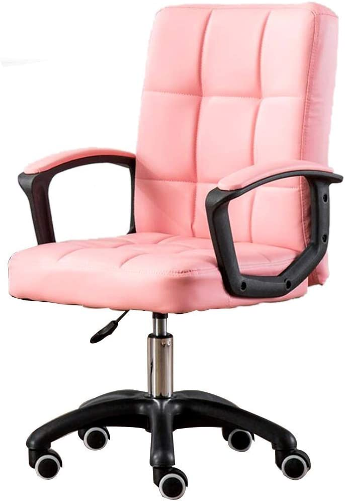 PLLP Leather-Padded Light Pink Home Desk Chairs