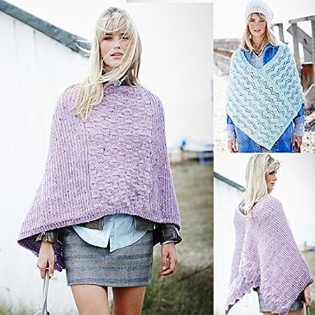 0c8026c99 Stylecraft Ladies Ponchos Alpaca Tweed Knitting Pattern 9452 DK  Amazon.co. uk  Kitchen   Home