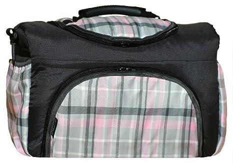 TP-44 bolsa cambiador con accesorios PIA de Baby-joy XXXL patrones de vestidos para tallas grafito rosa cuadriculado bolsa para pañales sucios bolsa de bebé ...