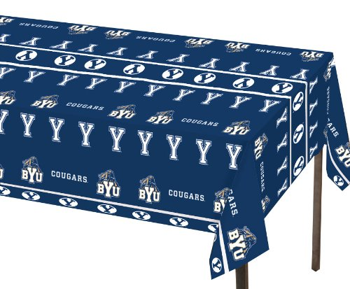 Football Banquet Table Decorations - Creative Converting BYU Cougars Plastic Banquet