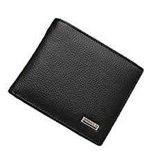 MXCZ Men Wallet Leather Wallet Coin Pocket Purse Wallet