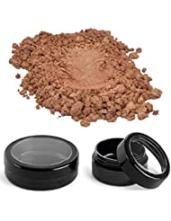 Luxury Mica Colorant Pigment N4 Powder Cosmetic Grade Glitter Eyeshadow Effects for Soap Candle Nail Polish 1/4 oz in jar (Bronze Fine Beige Mica)