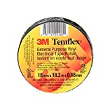 "3M Temflex General Use Vinyl Electrical Tape, 7 mil, 3/4"" x 60', 1 Roll per Pack"