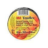 "3M Temflex General Use Vinyl Electrical Tape, 7 mil, 3/4"" x 60', 1 Roll per Pack"